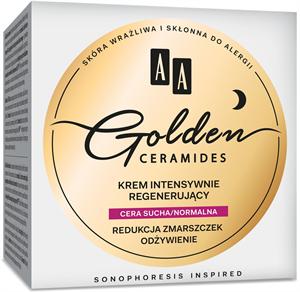 AA Golden Ceramides Intenzív Regeneráló Éjszakai Arckrém Száraz és Normál Bőrre