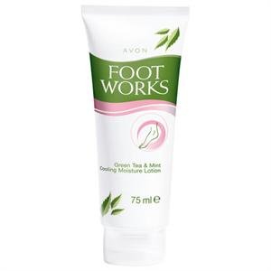 Avon Foot Works Zöldtea és Menta Hűsítő Hidratáló Lotion