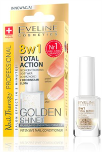 Eveline 8in1 Total Action Körömápoló Arany Szemcsékkel