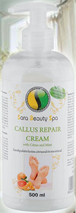 Sara Beauty Spa Callus Repair Cream With Citrus&Mint - Sarok Puhító Krém Citrussal És Mentával