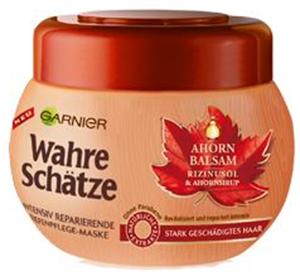 Garnier Wahre Schätze Juharszirup és Ricinusolaj Hajpakolás