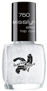 Misslyn Feather Effect Top Coat