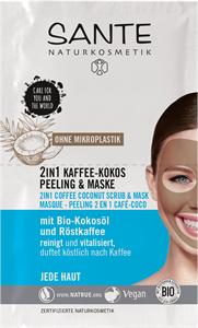 Sante 2 az 1-ben Kávés-Kókuszos Radír és Maszk