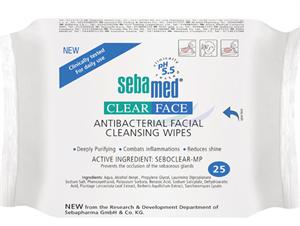 Sebamed Clearface Antibakteriális Arctisztító Kendő pH 5.5