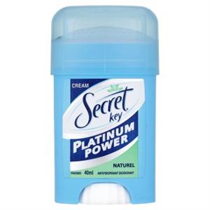 Secret Key Platinum Power Naturel Női Izzadásgátló Krémdezodor