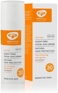 Green People Scent-Free Facial Sun Cream SPF30