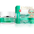 Eveline Cosmetics Facemed+ Tisztító és Bőrkisimító Arcmaszk Zöld Agyaggal és Zöld Tea Kivonattal