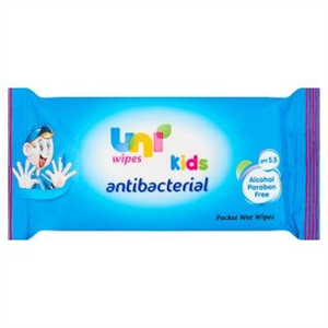Uni Kids Nedves Törlőkendő Antibakteriális Hatással Gyermekek Részére