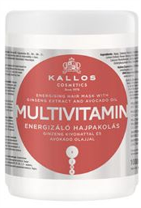 Kallos Kjmn Multivitamin Energizáló Hajpakolás Ginzeng Kivonattal és Avokádó Olajjal