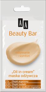 AA Beauty Bar Tápláló Arcpakolás Olajokkal
