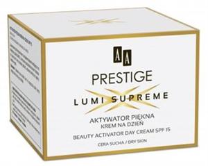 AA Prestige Lumi Supreme Beauty Activator Nappali Arckrém Száraz Bőrre SPF15