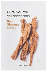 Missha Pure Source Cell Sheet Mask - Red Ginseng