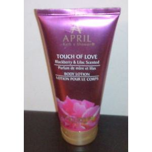 April Bath & Shower Touch Of Love Blackberry & Lilac Scented