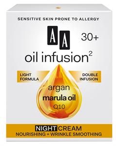 AA Oil Infusion2 30+ Intenzív Tápláló, Bőrkisimító Éjszakai Arckrém