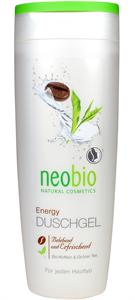 Neobio Tusfürdő Energy Bio Koffeinnel és Bio Zöld Teával
