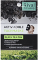 Rival de Loop Aktiv-Kohle Tuchmaske Black Tea-Tox