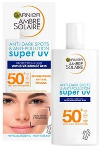 Garnier Ambre Solaire Anti-Dark Spots& Anti-Pollution Super U-v Protection Spf50 Fluid