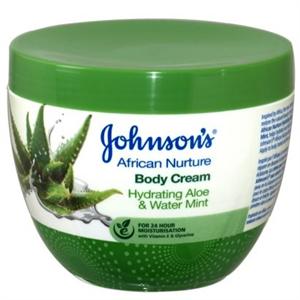 Johnson's African Nurture Aloe&Water Mint Testápoló Krém