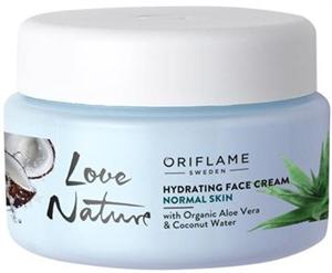 Oriflame Love Nature Hidratáló Arckrém Organikus Aloe Verával és Kókuszvízzel