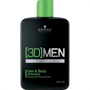 Schwarzkopf 3D Men Hair& Body Shampoo