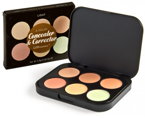 BH Cosmetics 6 Color Concealer & Corrector 6 Színű Korrektor Paletta