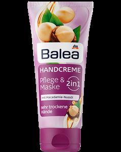 Balea 2in1 Pflege & Maske Kézkrém Makadámiadió Olajjal