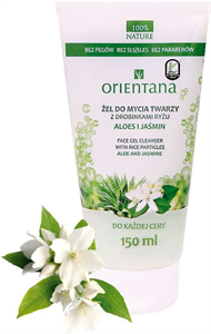Orientana Face Gel Cleanser With Rice Particles Aloe & Jasmine