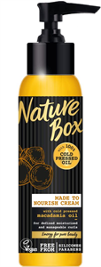 Nature Box Makadámdió Hajkrém Hullámos/Göndör Hajra