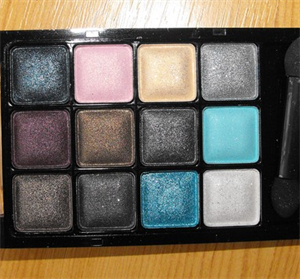 Miss Rose 12-Color Lasting Gloss Eyeshadow