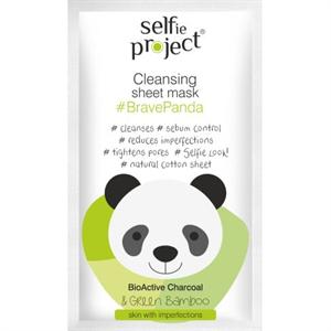 Selfie Project Tisztító Szövetmaszk #BravePanda