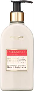 Oriflame Essense & Co. Kéz- és Testápoló Lotion Rózsaszín Borssal és Rebarbarával