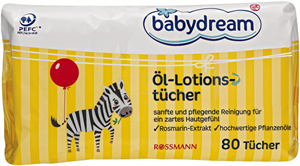 Babydream Öl-Lotions-Tücher