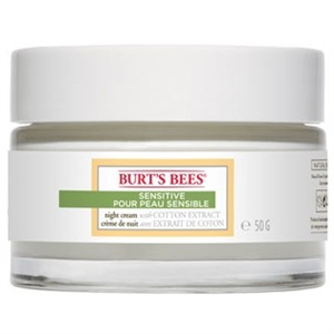 Burt's Bees Sensitive Night Creme With Cotton Extract