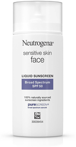 Neutrogena Sensitive Skin Face Liquid Sunscreen SPF50