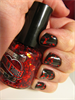 Black with red glitter