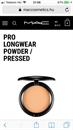 MAC Pro Longwear Powder / Pressed