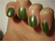 Zöld fedőlakk a kéken