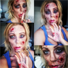 Halloween-i zombi smink