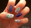 Lila-menta beach nail art