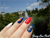4th of July/ Sailor nails