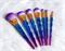 Mayani Design Unicorn Brush Set - Bright Blue