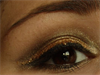 Csillámló szilveszteri arany-fekete smink