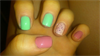 Pink, Mint, Nude