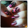 Water marble silver/pink
