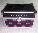 Maybelline fém-műanyag sminkdoboz, kozmetikai tároló