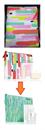 CSERE: Clinique Pep-Start neszesszer/neszeszer/piperatáska/kozmetikai táska/sminktáska