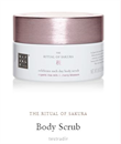 Rituals Sakura Scrub Organic Rice Milk and Cherry Blossom