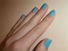 A kedvenc kék lakk és egy kis csillogás :)