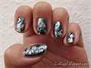 Zöld-ezüst saran wrap marble
