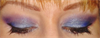 Kék-lila alkalmi smink